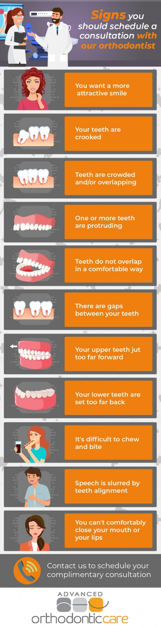 signs you should see the ortho infograph